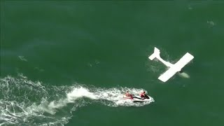 Pilot pulled from wreckage after small plane crashes in ocean off Daytona Beach