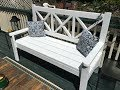 Large outdoor bench