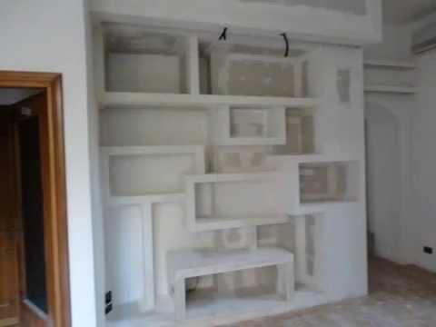librerie,contrsoffitti,muri e contromuri in cartongesso a ...