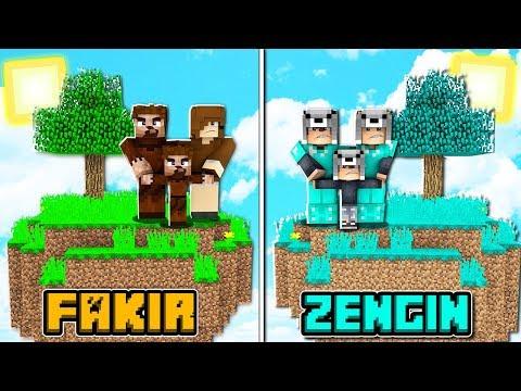 FAKİR AİLE ADASI VS ZENGİN AİLE ADASI! 😱 - Minecraft