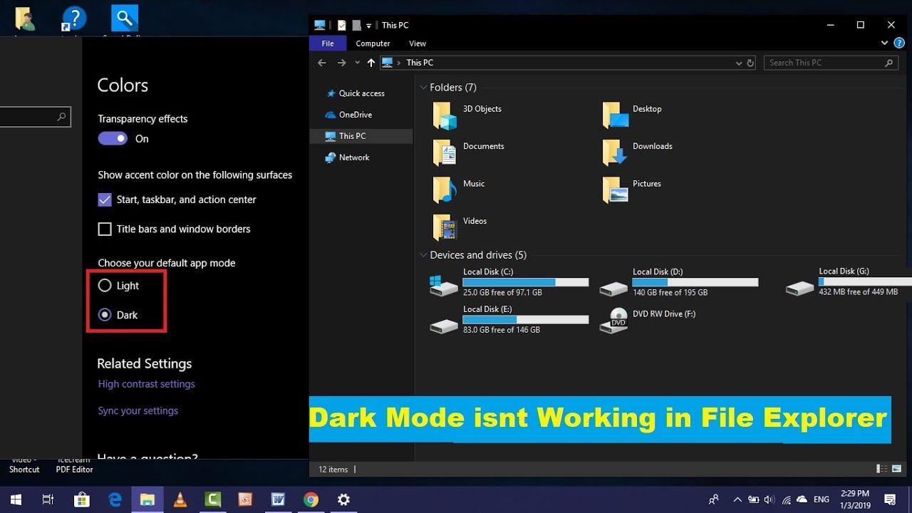 Windows Explorer Dark Mode