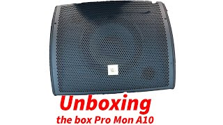 the box Pro Mon A10 Unboxing Aktiver Bühnenmonitor Monitor Thomann