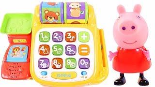Mejores Videos Para Niños - Peppa Pig Cash Register Shopkins Shopping Fun Videos For Kids