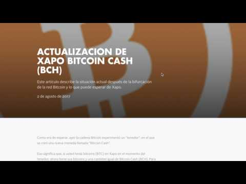 Bitcoin Cash   XAPO    (IMPORTANTE)