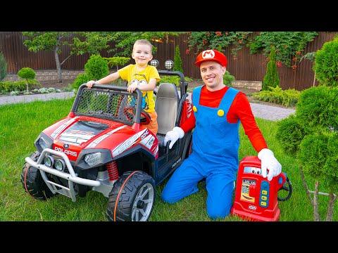 Новая Машинка игрушка подарок от Марио для Артура детский Электромобиль
