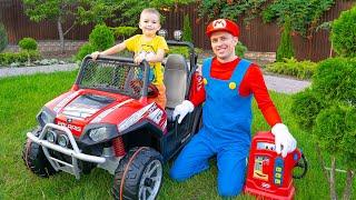 Нова іграшка Машинка подарунок від Маріо для Артура дитячий Електромобіль