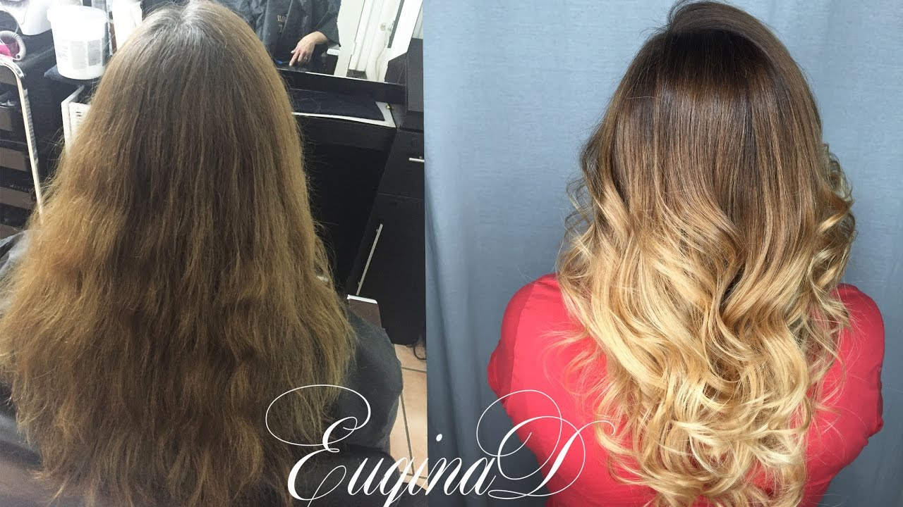 Dark To Light Color Melt Ombre Balayage Youtube