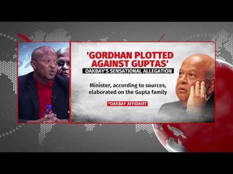 Finance Minister against Guptas