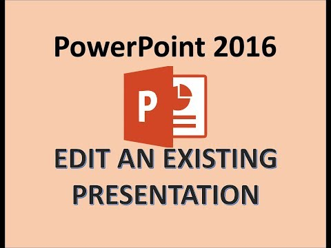 PowerPoint 2016 - Edit A PowerPoint Presentation - How To Edit PPT Slides, Editing In MS Power Point