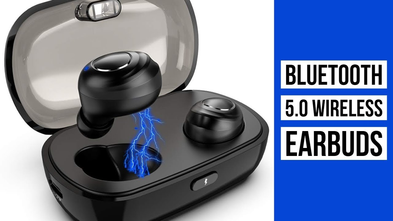 Bluetooth 5.0 Wireless Earbuds with Upgraded LED Display Charging Case Stereo Sound Headset IPX5 Waterproof TWS Built-in Mic in-Ear Earphones with Deep Bass for Sports Running