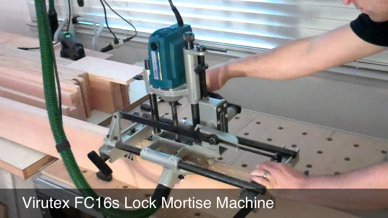 Cutting Large Mortises With A Lock Mortiser Youtube