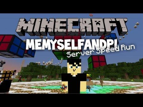 Minecraft Speed Run  - MeMyselfAndPi Server Parkour Hard Level (1:48)