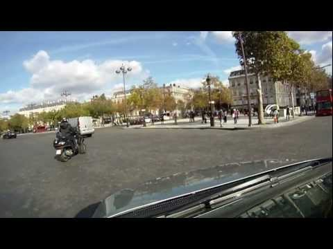 A gentle drive round Paris 2 from Champs Elysees to the Motorway