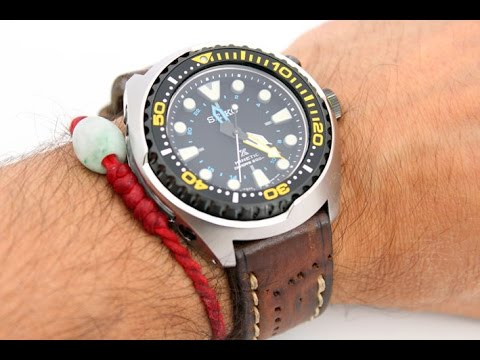 Seiko Sun021p1 Prospex Kinetic Gmt Divers Watch Review Youtube