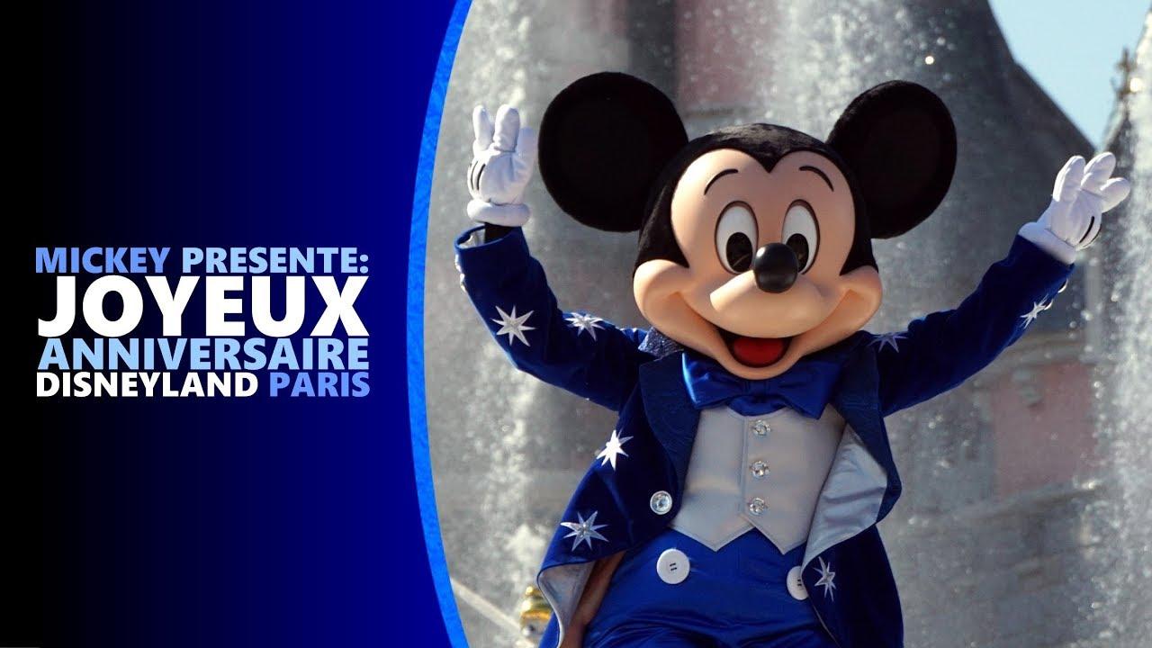 Mickey Presente Joyeux Anniversaire Disneyland Paris 2018 Youtube