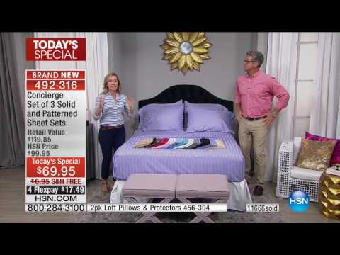 HSN | HSN Today: Concierge Collection Bedding / Beautyrest Mattresses 09.05.2016 - 08 AM