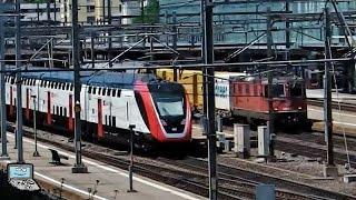 Aarau mit SBB Twindexx, FLIRT, KISS, Re 420 +Postzug, 450, 460, ICE 1, ICN, AAR Schmalspurbahn, ...