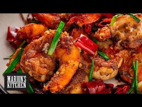 Sichuan Chilli Prawns Marion's Kitchen