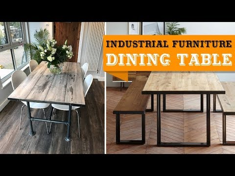 50+ Industrial Furniture Dining Table You'll Love
