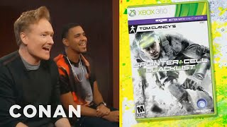 "Clueless Gamer: Conan Reviews ""Splinter Cell: Blacklist"" With J.Cole"