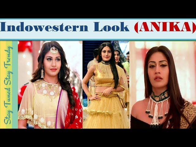Indo Western Fusion Bridal Lehenga{?????} Dresses Idea Inspired By (Anika)Surabhi Outfit In Ishqbaaz