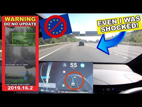 Navigate On Autopilot is DANGEROUS in the UK - New EU Law BAN Tesla Features 2019.16.2