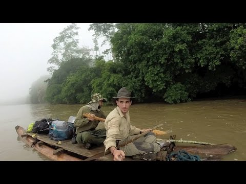 Ecuador Expedition: Log raft construction