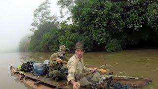 Ecuador Expedition: Log raft construction