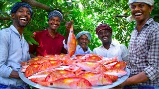 INDIAN GOAT FISH FRY | 20 Kg Fish Fry with Flavoured Oil | Nagarai Meen Poriyal | Cooking In Village