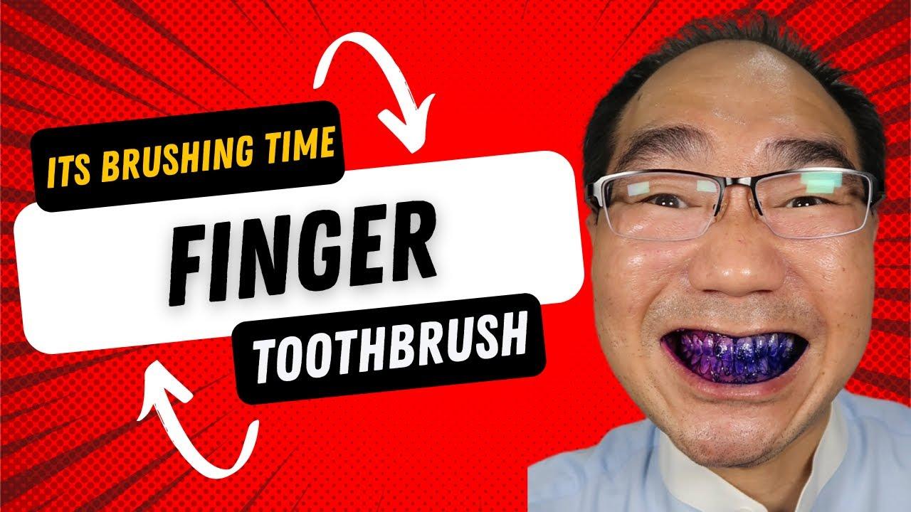 @Dental Digest 🟣 Finger Toothbrush! Your Rating?!? #shorts