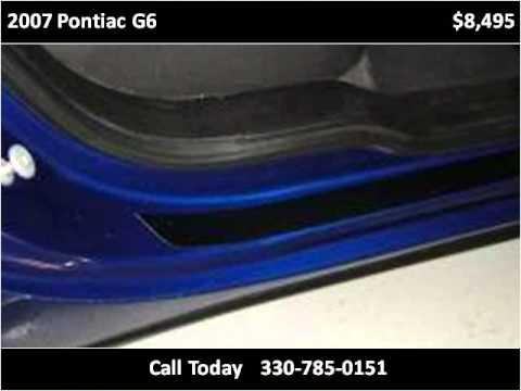 2007 Pontiac G6 Used Cars Akron Oh Youtube