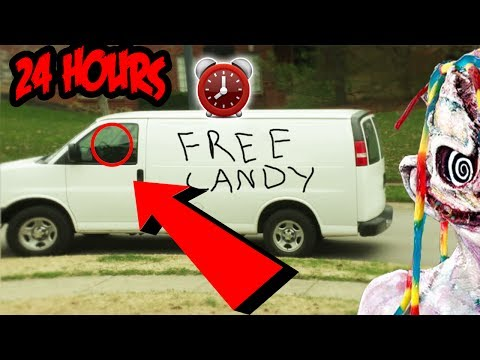 (FREE CANDY?!) OVERNIGHT CHALLENGE AT HAUNTED CLOWN CANDY FACTORY | CREEPY CLOWN SIGNS FOUND!