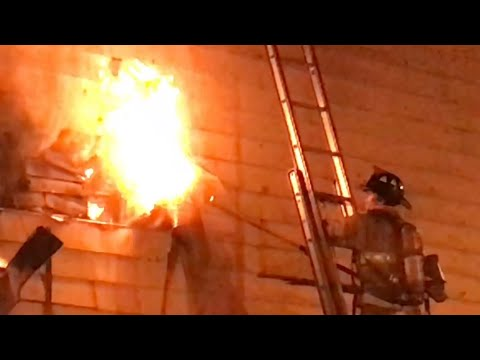 JERSEY CITY FIRE DEPARTMENT BATTLING A 2ND ALARM FIRE IN 2 PRIVATE DWELLINGS ON JORDAN ST. JC.