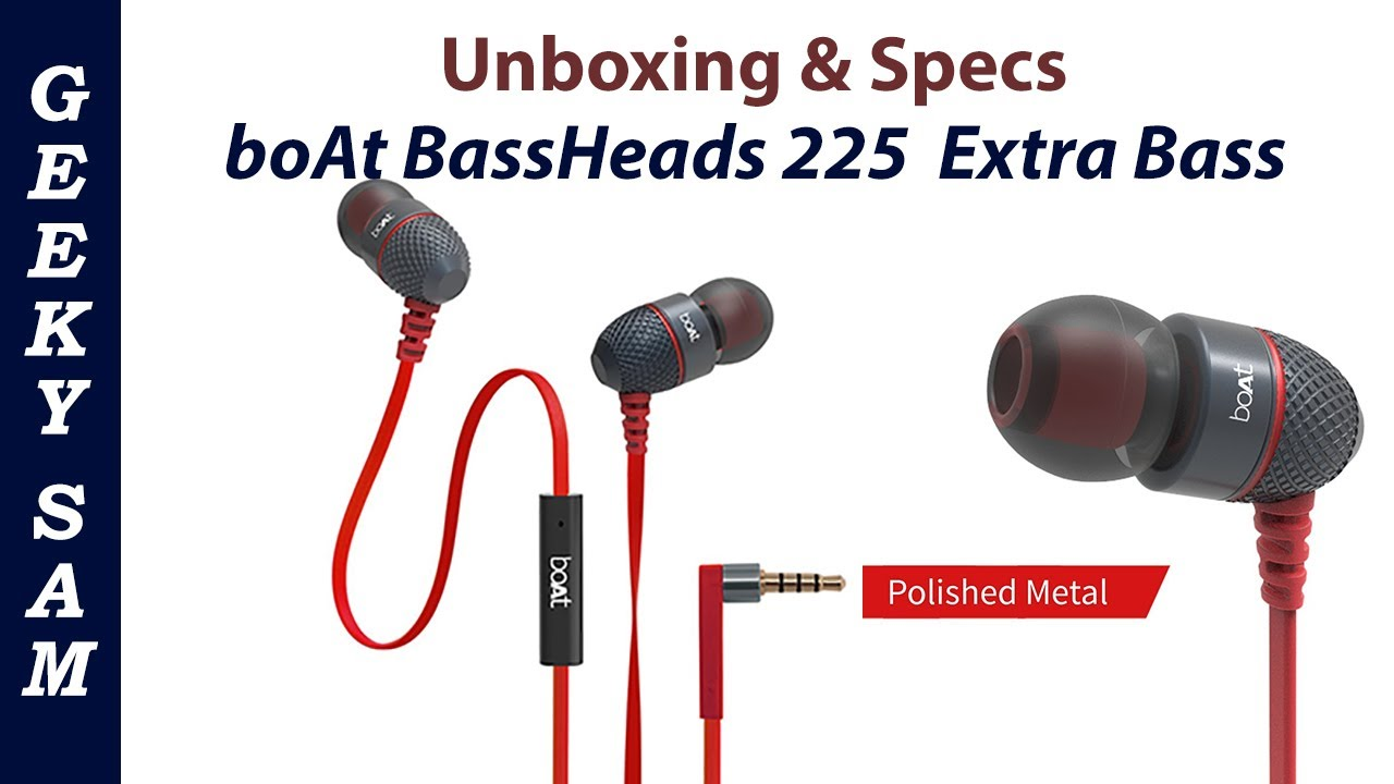 c5fee230d24 Boat Bassheads 225 in-ear super extra bass headphones | Unboxing ...