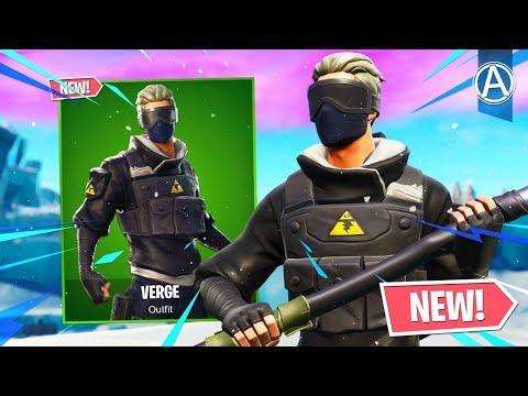 "NEW ""VERGE"" SKIN Gameplay! (Fortnite Battle Royale LIVE) thumbnail"