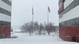 Veterans Day HEAVY SNOW BAND Hammers Denver Colorado At Morning Rush Hour on 11/12/18
