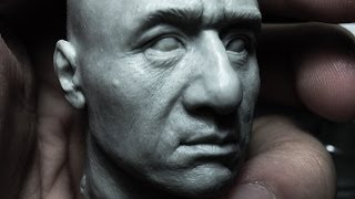 Sculpting Jackie Chan Head 1:6 Scale Hot Toys quality : Part 1 of 2