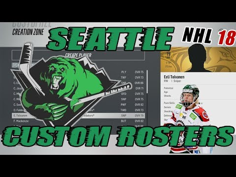 "NHL 18: Seattle Franchise Mode #5 ""Custom Roster Reveal"""