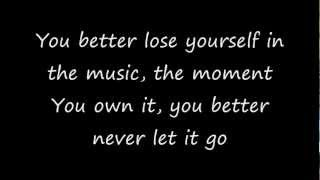 Lose Yourself by Eminem -Lyrics (CLEAN)