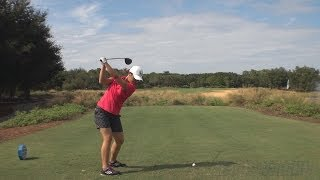 LYDIA KO - DTL DRIVER GOLF SWING 2013 - PERFECT DRAW STANCE & BALL FLIGHT REG & SLOW MOTION - 1080p