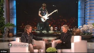 Keith Urban pays tribute to his late father Bob on Ellen