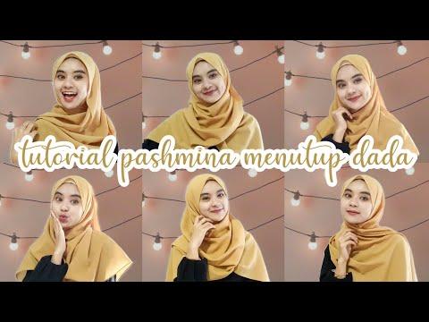 HIJAB TUTORIAL SEGI EMPAT MENUTUP DADA 2019 TREN KEKINIAN  [ HIJAB PESTA ACARA RESMI ]  Hijab Segi Empat Azura Azzahra ....