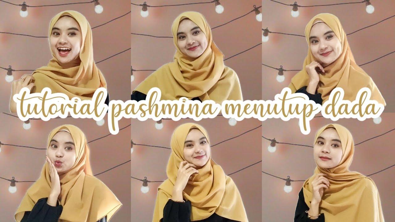 Tutorial Hijab Pashmina Syar I Menutup Dada I Ts Mita Youtube