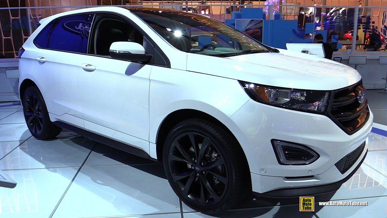 2015 Ford Edge Sport AWD   Exterior And Interior Walkaround   2015 Detroit  Auto Show   YouTube