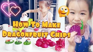 How To Make Dragon Fruit Chips Recipe | Homemade Chips | Himmel Dehydrator