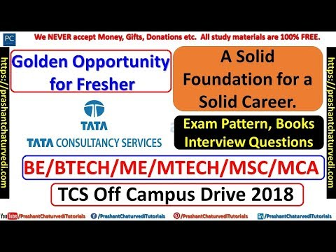 TCS OFF CAMPUS DRIVE 2018 FOR FRESHER || BE/BTECH/MSC/MCA/ME/MTECH || CHECK ALL DETAILS HERE