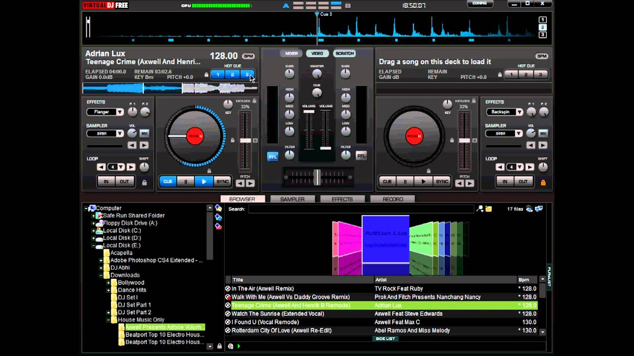 Basic tutorial on how to mix songs in virtual dj youtube.