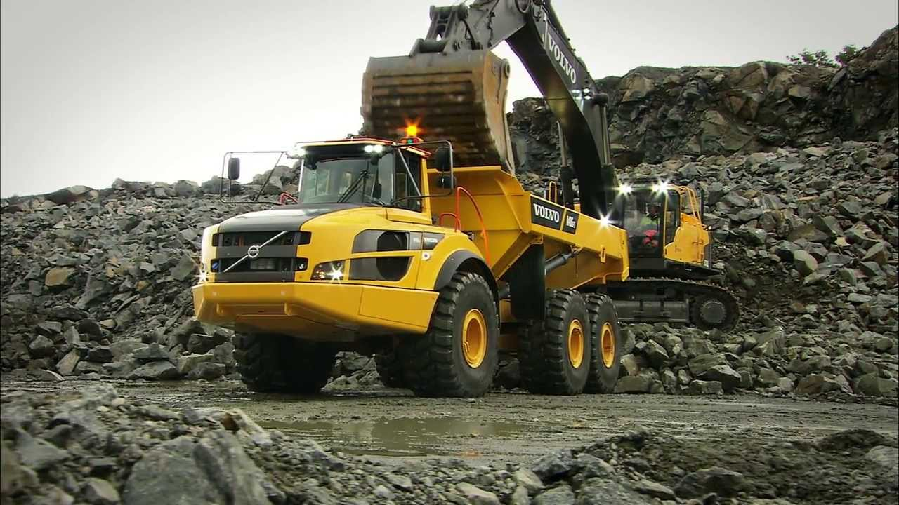 Volvo G-series Articulated haulers promotional video - YouTube