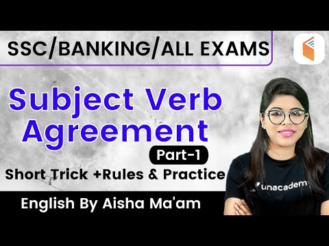 5:00 PM - SSC/Banking/All Exams 2020 | English by Aisha Ma'am | Sub Verb Agreement Rules & Tricks