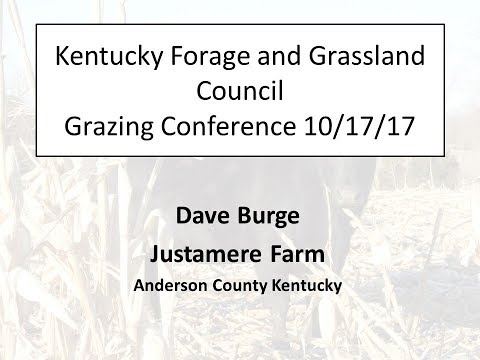 Kentucky Forage and Grassland Council 2017 Forage Spokesperson Contest-Dave Burge